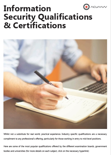 Information Security Certifications and Qualifications